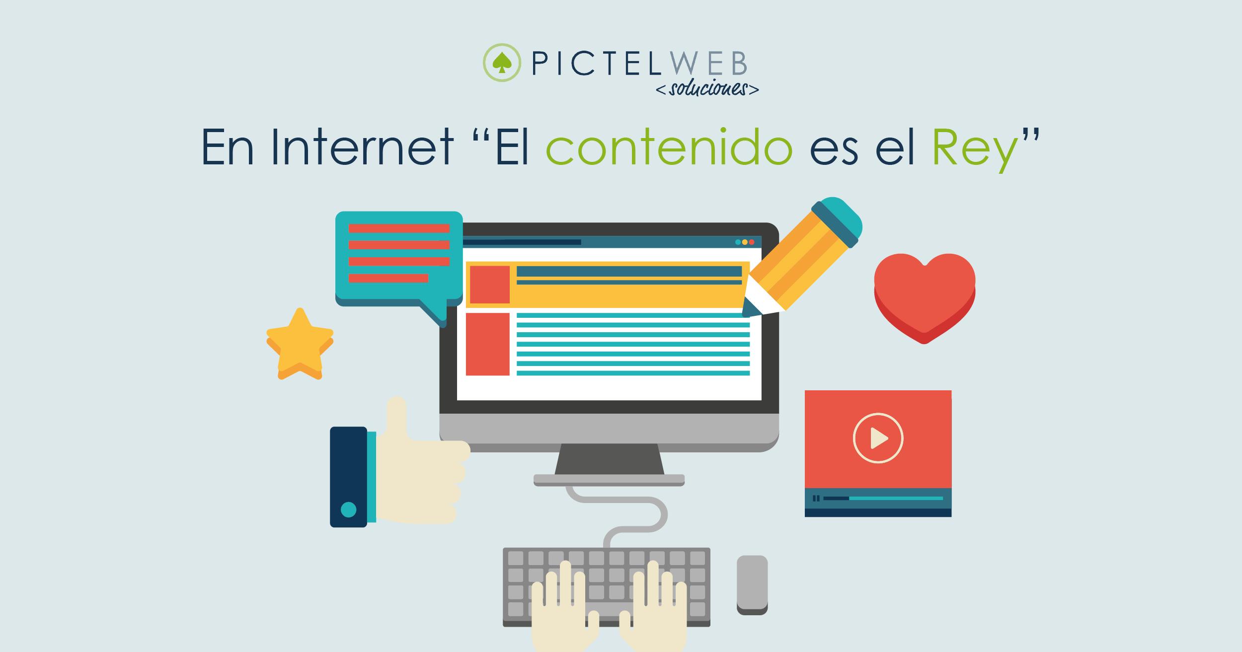 """En Internet """"El contenido es el Rey"""""""