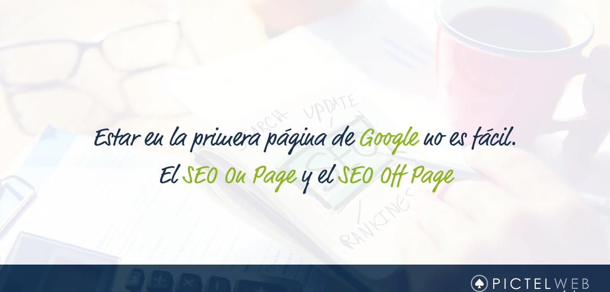 El SEO On Page y el SEO Off Page